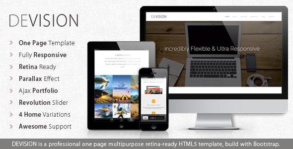 Devision - Onepage Parallax Retina Template - Creative Site Templates