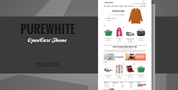 PureWhite - Premium OpenCart Theme - OpenCart eCommerce