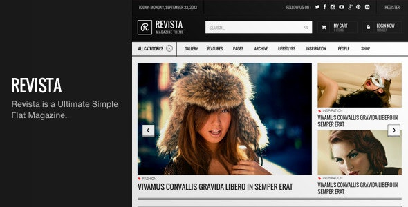 Revista - Ultimate Simple Flat Magazine PSD - Creative Photoshop
