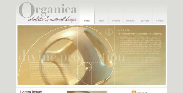 Organica | Clean portfolio, product, design studio template - Creative Photoshop