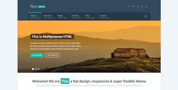 Flux - Flat Corporate HTML Template 2