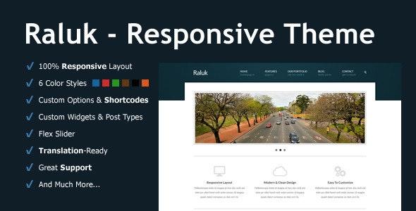 Raluk - Responsive Business Theme - Corporate WordPress