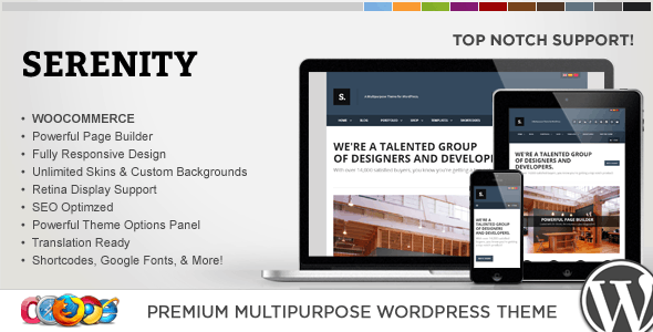 WP Serenity Responsive Multipurpose Theme - Corporate WordPress