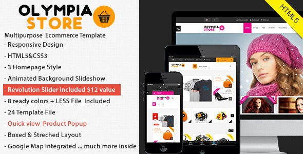 Olympia responsive Html5 eCommerce - Retail Site Templates