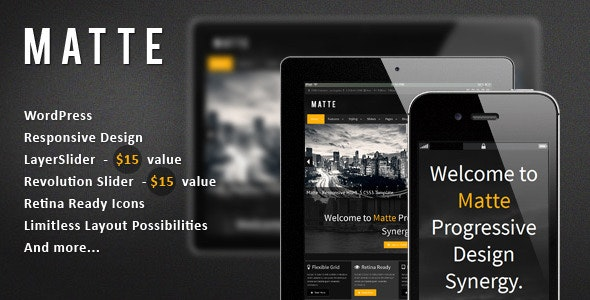 Matte - Responsive WordPress Theme - Creative WordPress