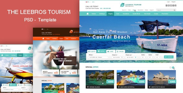 The Booking Travel - PSD Template - Travel Retail