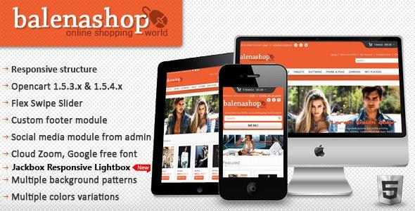 Balenashop – HTML 5 Open Cart Theme - Fashion OpenCart