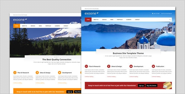 Exoone - Corporate Business HTML Template - Business Corporate