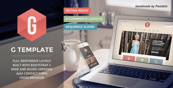 G - Multipurpose Responsive HTML5 Template - Creative Site Templates