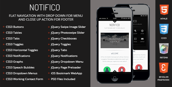 Notifico Mobile by Enabled | ThemeForest