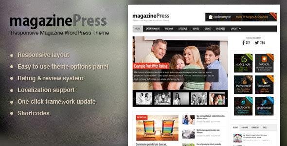 MagazinePress - WordPress Magazine Theme - News / Editorial Blog / Magazine