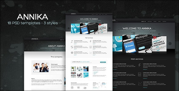 Annika - Portfolio or Business theme - Corporate Photoshop