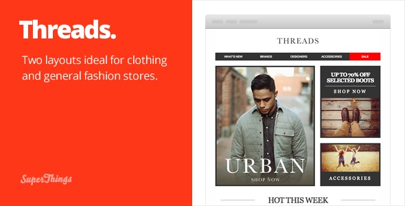 Threads, a responsive fashion email set - Email Templates Marketing