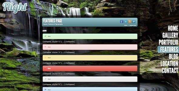 Flight - Responsive Fullscreen Background Theme