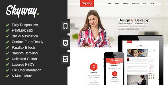 Skyway   Responsive One Page Portfolio - Portfolio Creative