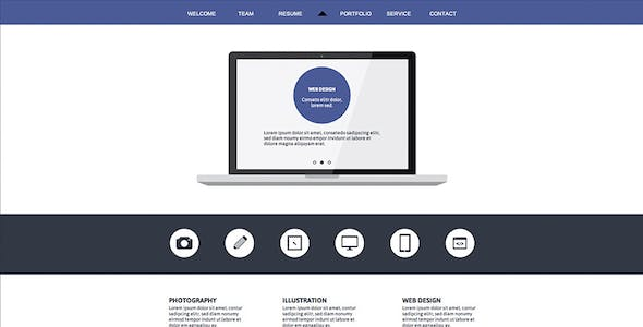 Creative - One Page Muse Theme