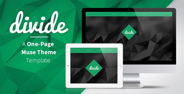 Divide - One Page Muse Theme - Creative Muse Templates
