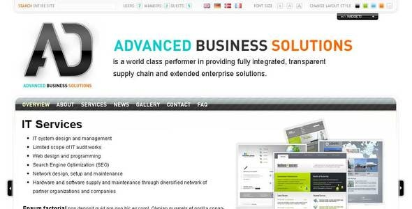 Advanced Business Solutions - Sliced PSD template - Business Corporate