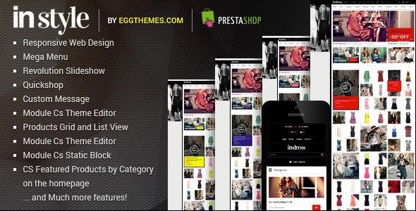 Responsive Dress Store PrestaShop Theme - InStyle - Fashion PrestaShop
