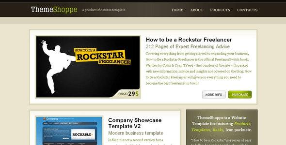 ThemeShoppe - Product Showcase Template - Retail Site Templates