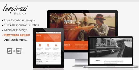 Relax - Responsive & Minimal Coming Soon Template - Under Construction Specialty Pages