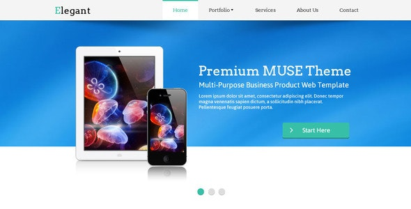 Elegant Muse Web Template - Corporate Muse Templates