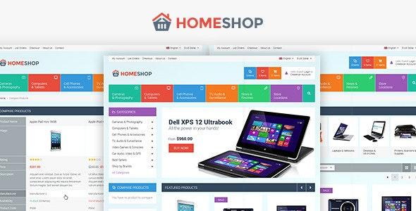 Home Shop - Retail PSD Template - Retail Photoshop