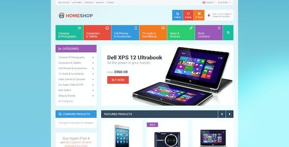 Home Shop - Retail PSD Template