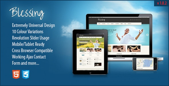 Blessing | Responsive Church & Charity Site Template - Churches Nonprofit