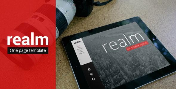 REALM - Unique One Page Parallax Responsive HTML5 - Portfolio Creative