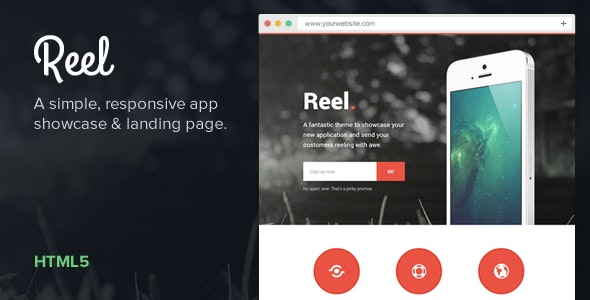 Reel — Simple, Responsive App Showcase - Creative Landing Pages