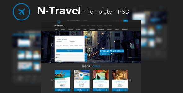 N-Travel - Psd Template - Travel Retail