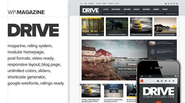 Drive - Premium and Responsive WordPress Magazine - Blog / Magazine WordPress