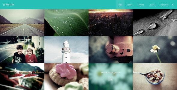 Matrix Masonry Bootstrap 3 Retina HTML Template - Portfolio Creative