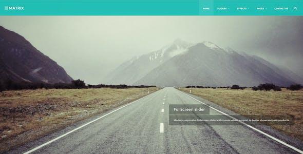 Matrix Masonry Bootstrap 3 Retina HTML Template