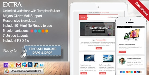Extra - Responsive E-mail Template by akedodee | ThemeForest
