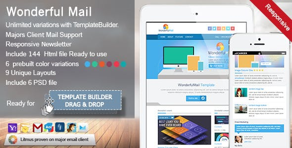 WonderfulMail - Responsive Email Template