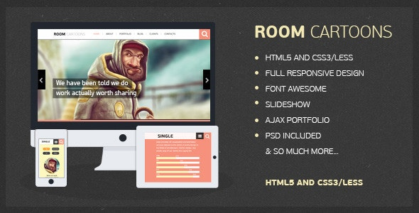 Room Cartoons - HTML Template - Portfolio Creative