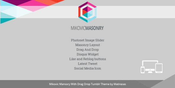 Mikovic - Masonry With Drag And Drop Tumblr Theme - Blog Tumblr