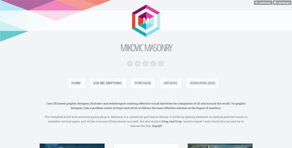 Mikovic - Masonry With Drag And Drop Tumblr Theme