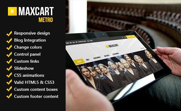 Maxcart - Flat Responsive Design Opencart Theme - OpenCart eCommerce