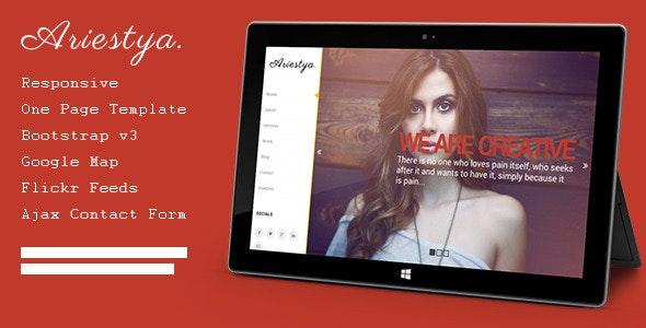 Ariestya - One Page Template - Portfolio Creative