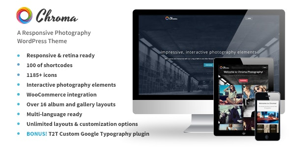 Chroma - A Responsive Photography Theme - Photography Creative