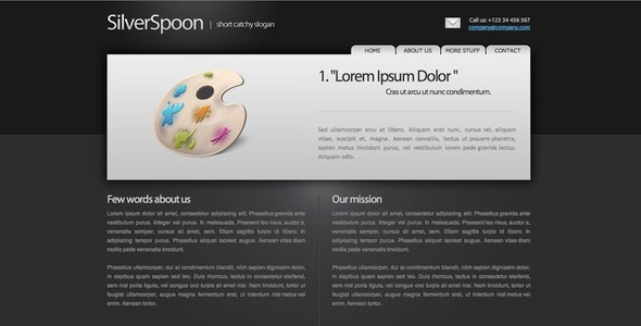SilverSpoon - Corporate Site Templates