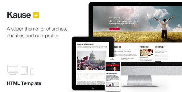 Kause - Multi Purpose Template - Nonprofit Site Templates