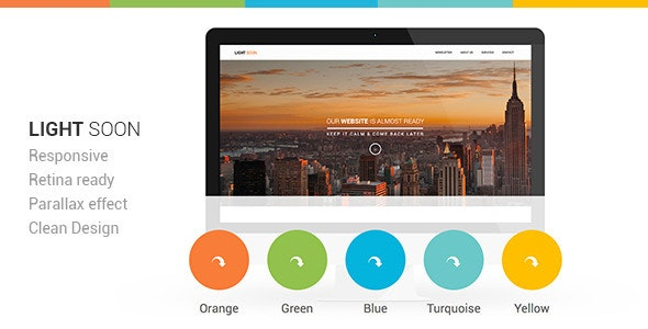 Light Soon Html Template - Under Construction Specialty Pages