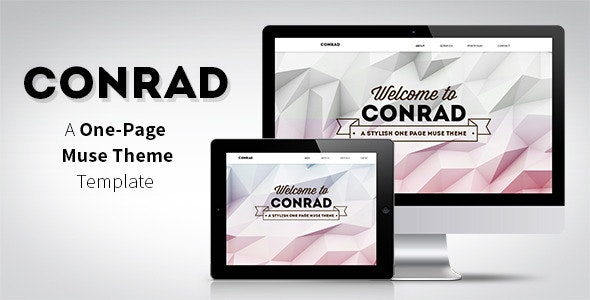 Conrad - One Page Muse Template - Creative Muse Templates