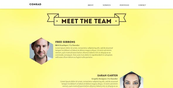 Conrad - One Page Muse Template