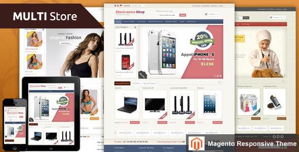 Multi Store - Magento Responsive Theme - Shopping Magento