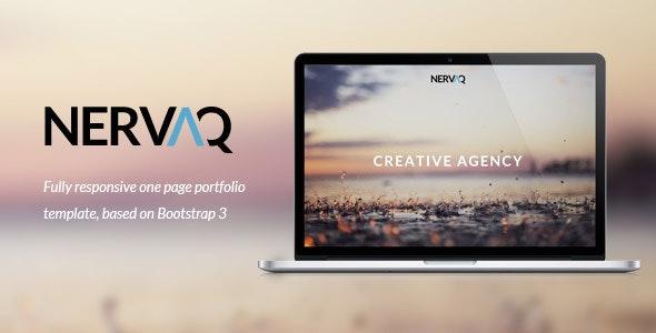 Nervaq - Responsive One Page Template - Portfolio Creative